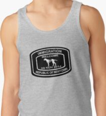 Republic of Newtown - 2014: White on Black Tank Top
