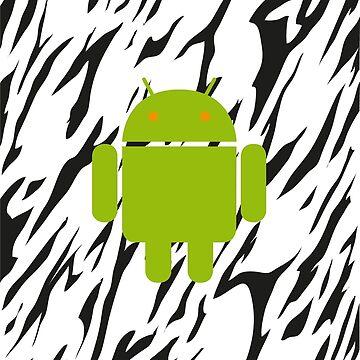 Android Logo mit Zebramuster von Exilant