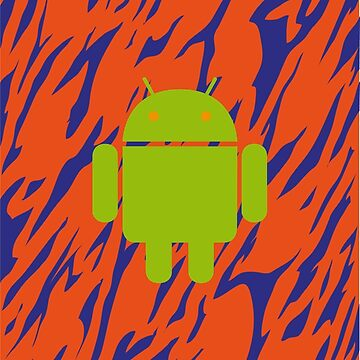 Android Logo mit Zebramuster in orange/blau von Exilant