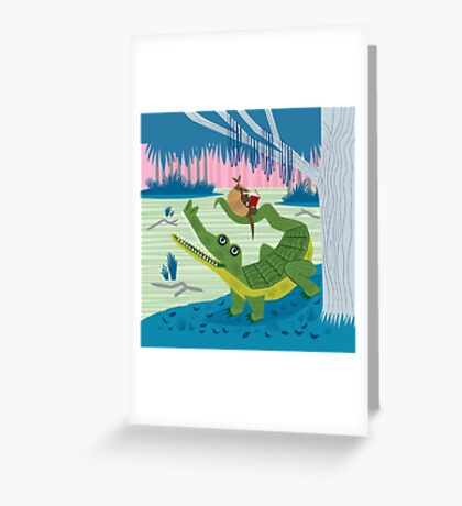 The Alligator and The Armadillo Greeting Card