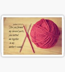 Psalm 139 Knitted together Sticker