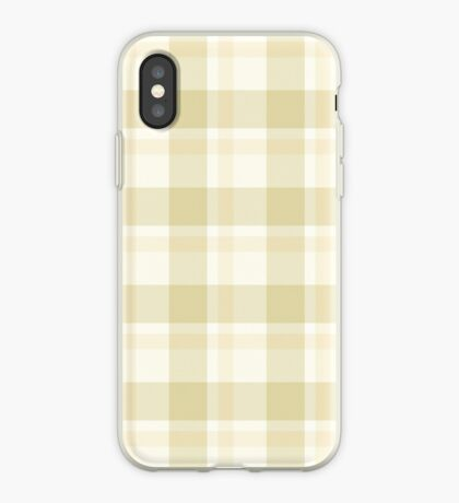 Beige Tartan by Julie Everhart iPhone Case