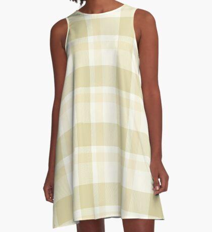 Beige Tartan by Julie Everhart A-Line Dress