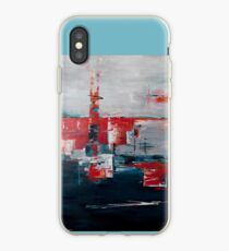 Contemporary abstract art with mid-century twist iPhone Case