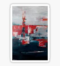 Contemporary abstract art with mid-century twist Sticker