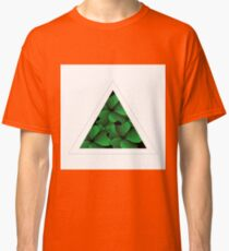 green flowers in triangle Classic T-Shirt