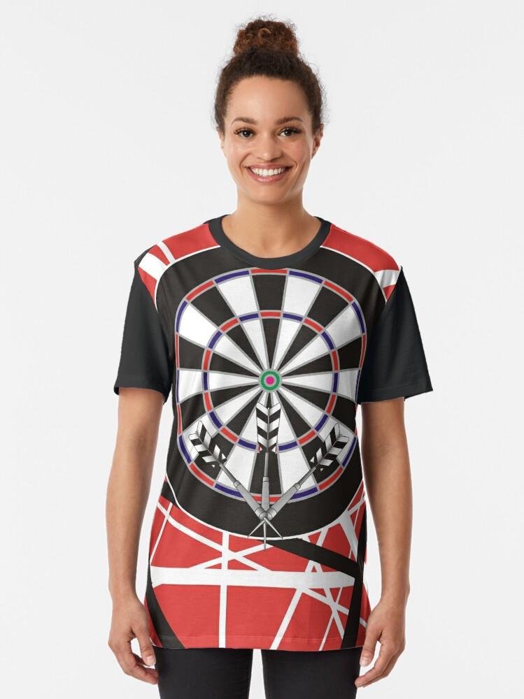 Alternate view of One Rockin' Darts Shirt Graphic T-Shirt