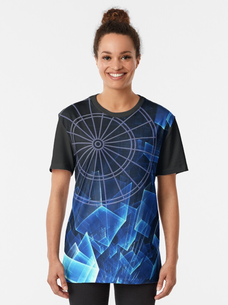 Alternate view of Darts Squared Graphic T-Shirt