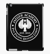 Jaeger Academy logo in white! iPad Case/Skin