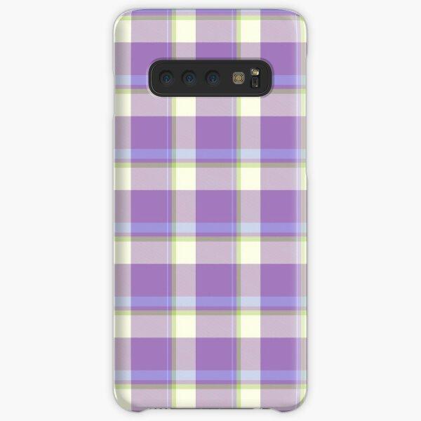 Lavender Tartan Design by Julie Everhart Samsung Galaxy Snap Case