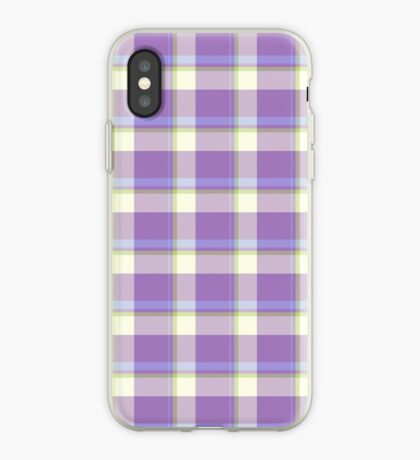 Lavender Tartan Design by Julie Everhart iPhone Case