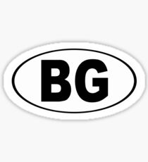 Bowling Green Kentucky Oval BG Sticker