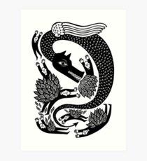 And the dragon Art Print