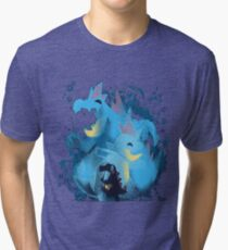 totodile, croconaw and feraligart evolutions cool design Tri-blend T-Shirt