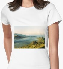 Tranquil traveling Womens Fitted T-Shirt