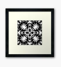 Black Kaleidoscope Flames Print Framed Print