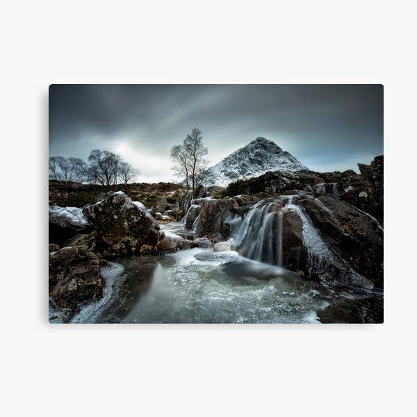 Buachaille Etive Mòr Waterfall Canvas Print