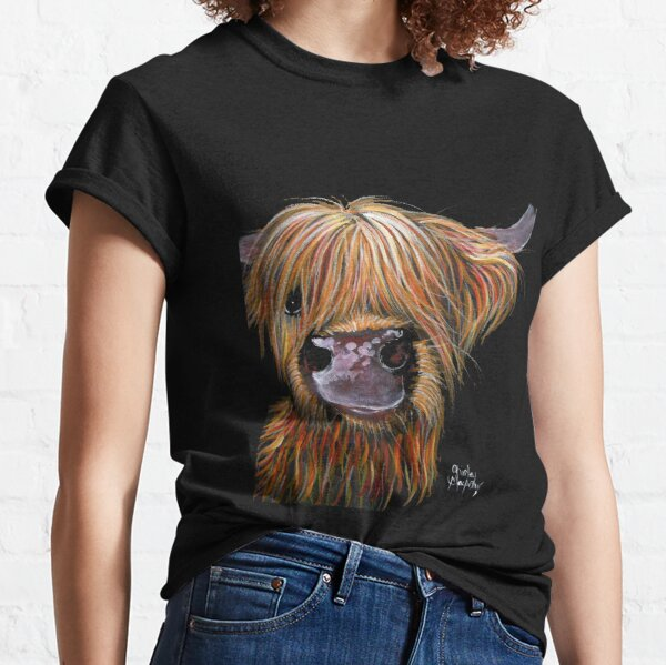 SCOTTISH HAIRY HIGHLAND COW 'HENRY' By Shirley MacArthur Classic T-Shirt