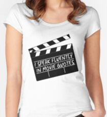 I speak fluently in movie quotes Women's Fitted Scoop T-Shirt