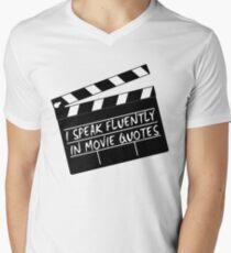 I speak fluently in movie quotes Mens V-Neck T-Shirt