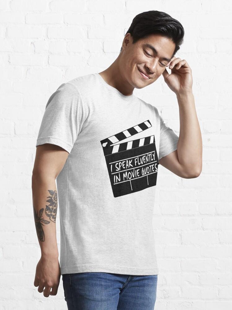 Vista alternativa de Camiseta esencial Hablo con fluidez en citas de películas