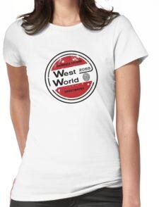 Westworld Retro Logo Round Womens Fitted T-Shirt