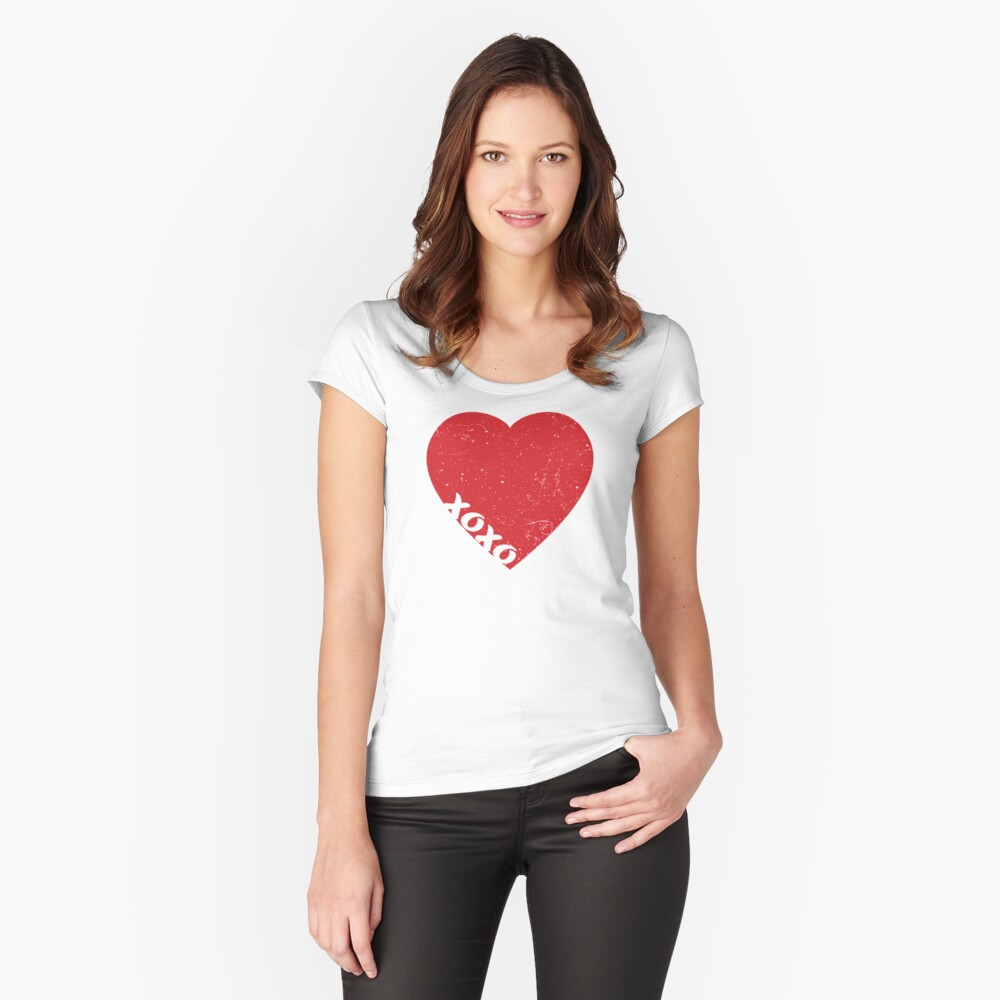 Valentine Heart Fitted Scoop T-Shirt