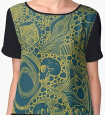 Dinomite Pattern (gold) Chiffon Top