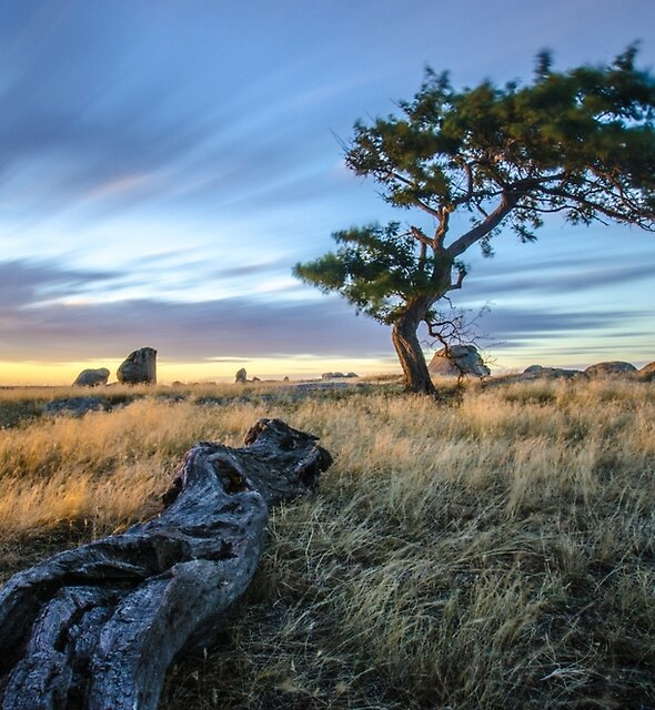 Dog Rocks Sun Set by Alan  Wright