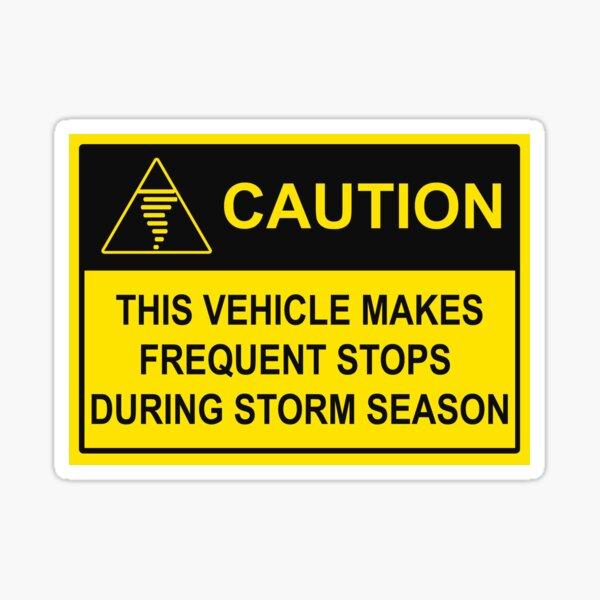 CAUTION - Chase Vehicle Sticker (Tornado) Sticker