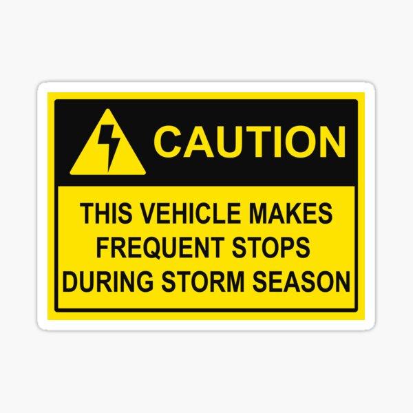 CAUTION - Chase Vehicle Sticker (Lightning) Sticker