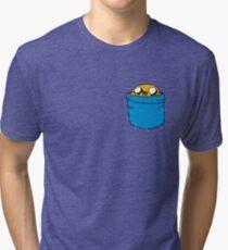 JAKE IN HIS POCKET Tri-blend T-Shirt