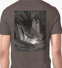The Divine Comedy, Gustave Doré, Dante, Woodcut illustration, The Inferno, Canto 10. T-Shirt