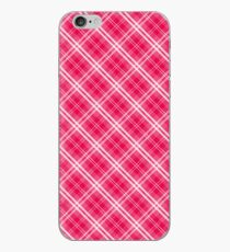 Lippenstift Pink Valentine Sweetheart Tartan Karo Check iPhone-Hülle & Cover