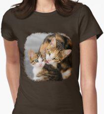 Mother Cat Loves Cute Kitten Womens Fitted T-Shirt