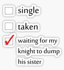 Relationship Status... Jaime Lannister Sticker