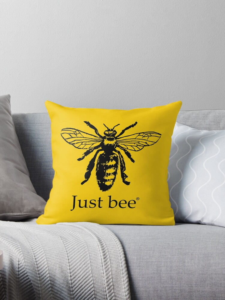 """Just The Bee S Knees Boys Bathroom Inspiration And A Mood: """"Just Bee"""" Throw Pillows By 45thAveArtCo"""