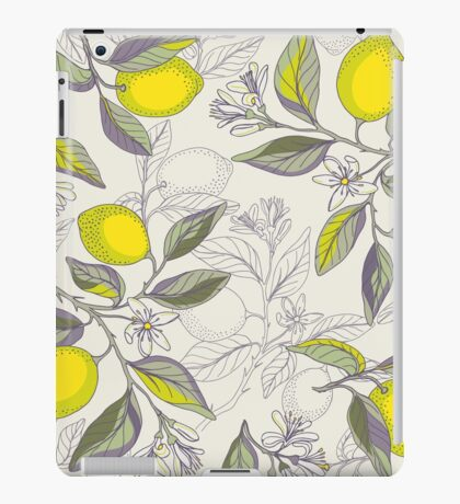 Lemon pattern iPad Case/Skin