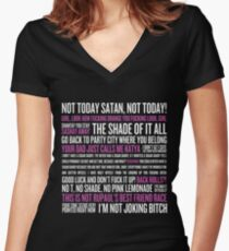 Rupaul's Drag Race Quotes (black background) Women's Fitted V-Neck T-Shirt