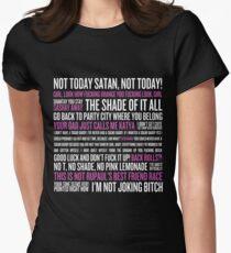 Rupaul's Drag Race Zitate (schwarzer Hintergrund) Tailliertes T-Shirt