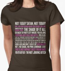 Rupaul's Drag Race Quotes (black background) Womens Fitted T-Shirt