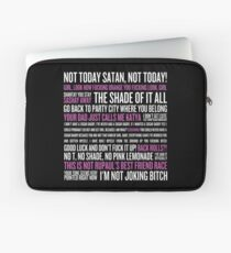 Rupaul's Drag Race Quotes (black background) Laptop Sleeve