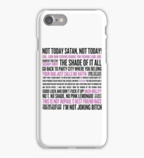 Rupaul's Drag Race Quotes (white background) iPhone Case/Skin