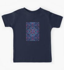 Cherry Red & Navy Blue Watercolor Floral Pattern Kids Clothes