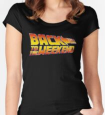 Back To The Weekend Women's Fitted Scoop T-Shirt