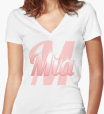 Baby Mia is a Superstar Women's Fitted V-Neck T-Shirt