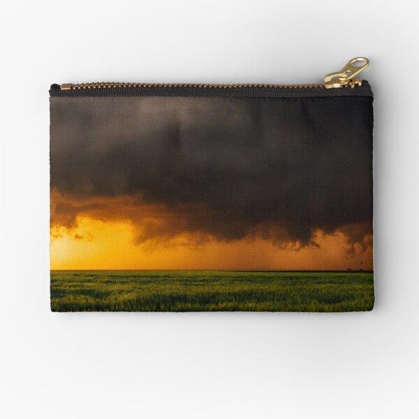 Tornadic Thunderstorm Sunset Zipper Pouch