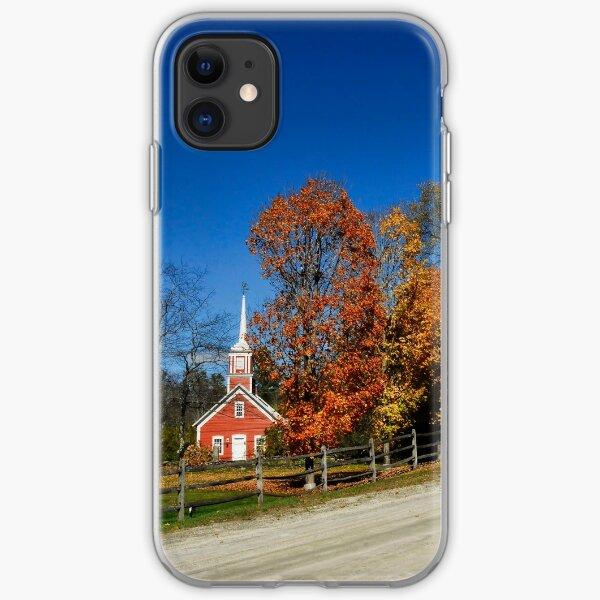 Little Red Church in Fall iPhone Soft Case