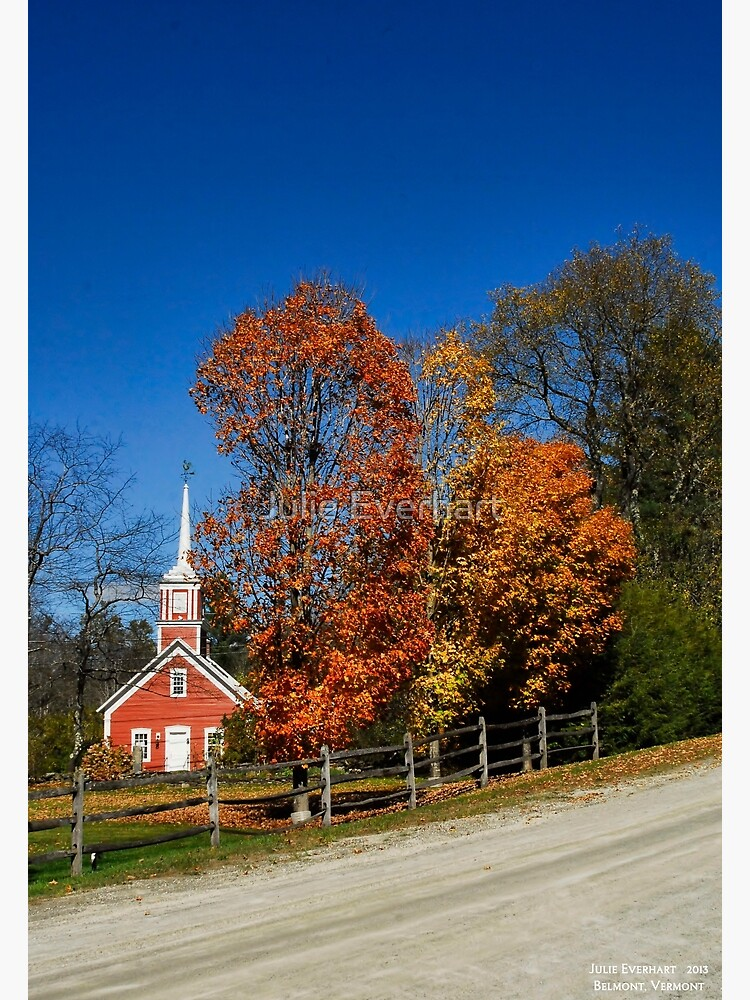 Little Red Church in Fall by julev69