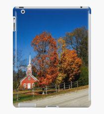 Little Red Church in Fall iPad Case/Skin